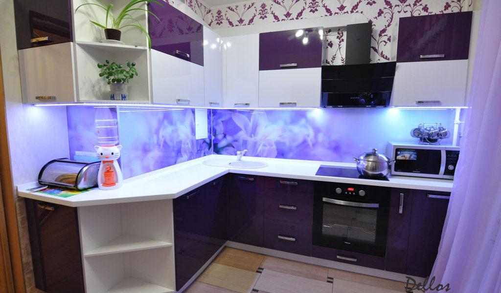 Фиолетовая кухня